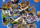 Mappa parco Warner Madrid