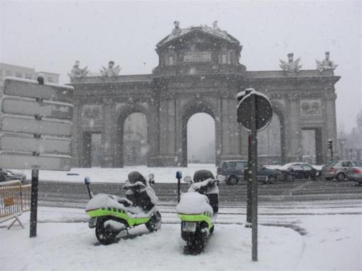 madrid-sotto-la-neve-Plaza Indipendeza
