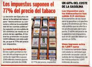 Aumenta il costo delle sigarette